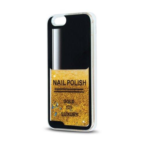 FUN CASE Nägel für Apple iPhone 6 / 6S Handy Cover Hülle Case Glitzer Sterne Flüssig Sternenstaub (pink) gold