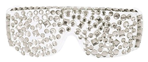 Folat Party Brille Diamant Silber Lady (Womens Disco Kostüm)
