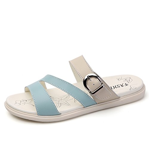 Sommer-leder-hausschuhe/Frauen Sommer Mode Tragen Sandalen C