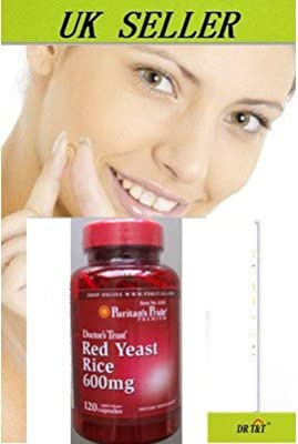Red Yeast Rice for Cholesterol & Heart 600mgx120 capsules by puritan's pride