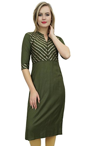 Bimba Frauen-Grün Designer Tunika Kurta Kurti Indian Ethnische Partei-Abnutzungs-40 -