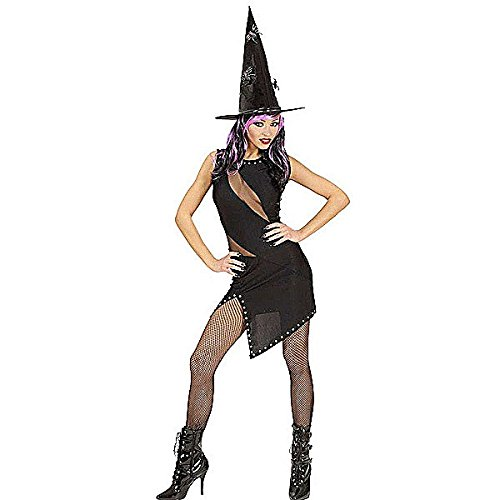 Schwarzes, kurzes Kleid, Cocktail-Kleid oder Kostüm für Fasching, Karneval, Verkleidung als Hexe, Katze, Rockerin