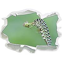 bruco verde su animali insetti filiali della giungla, di carta 3D della parete di formato: 92x67 cm decorazione della parete 3D Wall Stickers parete decalcomanie