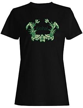 Nuevo Aloha Arte De Verano camiseta de las mujeres l148f