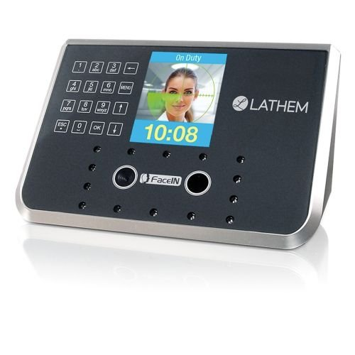 Lathem Time LTHFR650 Face Recongnition Terminal Only, Ethernet Connection, 3.5 Color LCD Screen, Up to 500 Employees per Device, Black and Gray by Lanthem (Terminal Gray)
