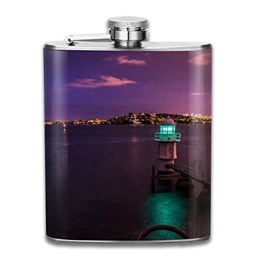 Flask Sydney Australia Stainless Steel Hip Flask, Healthy Drink Bottle Outdoor Camping Wine Flask