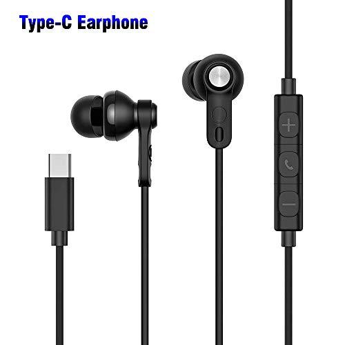 Beyeah USB Typ C Ohrhörer (Hi-Res & DAC Chipsatz) In Ear Kopfhörer Active Noise Canceling Earphone mit Mikrofon für Huawei & Google & HTC & Moto & Sony & iPad Pro