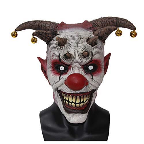 PJHGS Der Clown Horror Latex Halloween Gruselkopf Maske Latex Böser Narr Clown Beste Für Karneval Cosplay