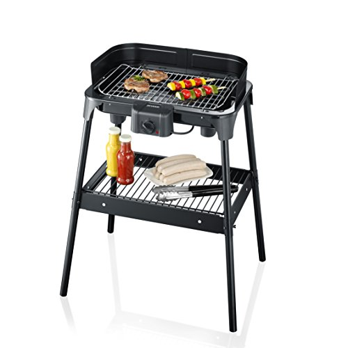 SEVERIN Gril Barbecue, Gril sur pied, Surface du Gril (41x26cm),...