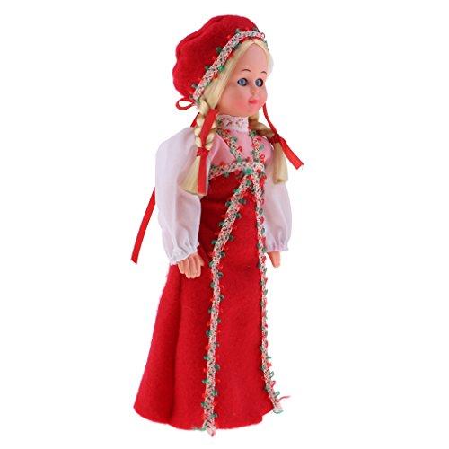 Sharplace 9 Zoll Schöne Kunststoff Internationale Ethnische Puppe -