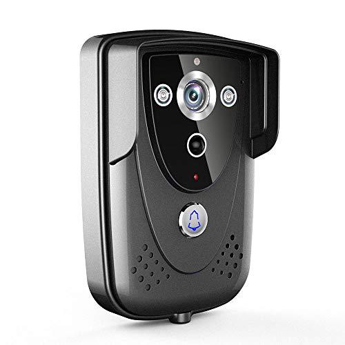 LMtt Video Doorbell, Wasserdichte WiFi Doorbell mit Kamera, kapazitiver Touchscreen, mobiles APP, Indoor-Terminal-Passwort-Entsperrfunktion, Besucherfoto und Alarmaufzeichnung Touch-screen-kameras