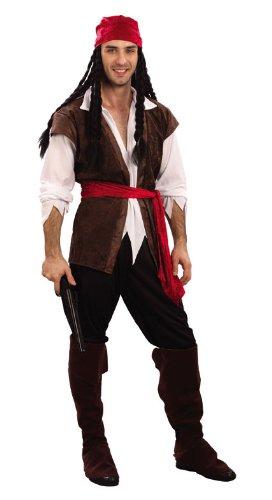 Déguisement Homme - Pirate Caraïbes - Taille Unique