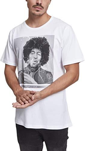 MERCHCODE Herren Purple Haze Tee T-Shirt, weiß, M -