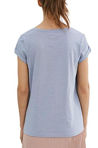 edc by Esprit 037cc1k023, T-Shirt Femme Bleu (Light Blue Lavender)