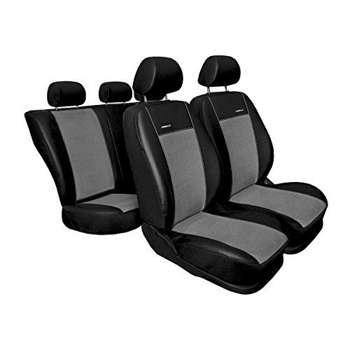 Mossa Premium (PR1) (maßgeschneidert) - Autoschonbezug-Set - Schwarz-grau - 5902538791311