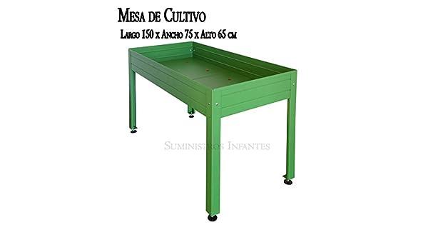Panorama Tavoli Da Giardino.Tavolo Da Coltura Laccato Verde Panorama Lungo 150 Cm X