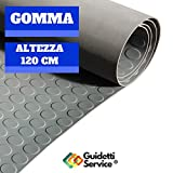 FOLL GUM  | PAVIMENTO IN GOMMA GRIGIO ALTEZZA 120 CM (1,2 X 5 M) DI GUIDETTI SERVICE