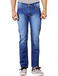 Par Excellence Men's Blue Slim Fit Jeans