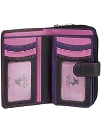 Visconti Bifold Leder Damen Geldbörse Colorado Combination Leather mehrfarbig Purse (CD-22) RFID