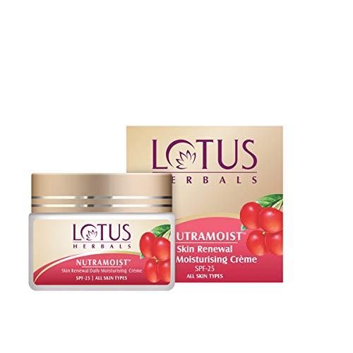 Lotus Herbals Nutramoist Skin Renewal Daily Moisturising Creme, SPF 25, 50g