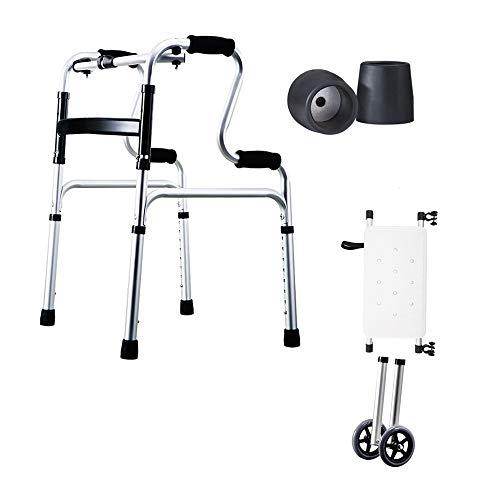 Rollator Walker Petite, Leichtgewicht-Rollator-Walker Aus Aluminium Einkaufswagenlaufkatze des Alten Mannes (Color : Black-D) -