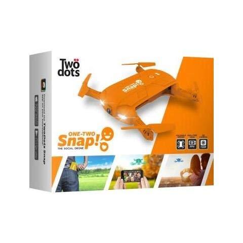 Twodots - Two dots snap the social drone cam hd 1mpx con giroscopio stabilizzatore a 6 assi colore arancione