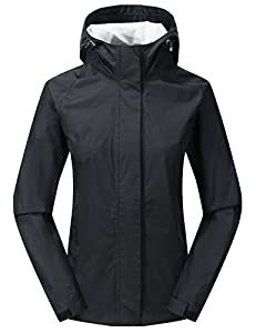 Diamond Candy Waterproof Jackets Women Rain Coat-Lightweight Packable Breathable Rain Jacket for Camping Hiking Mountaineering