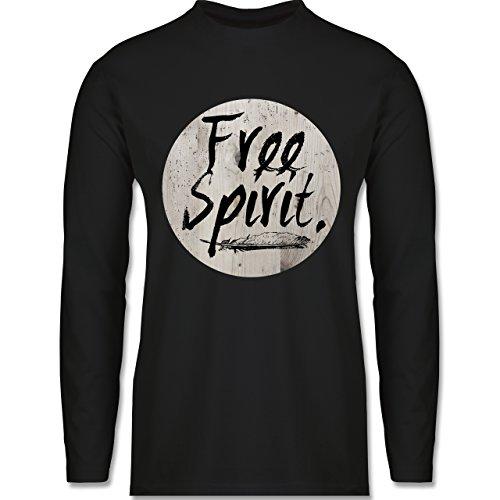 Shirtracer Statement Shirts - Free Spirit - Herren Langarmshirt Schwarz