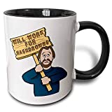 Best Funny Guy Mugs Gifts For Your Husbands - Humorous Man Guy with A Sign Will Work Review