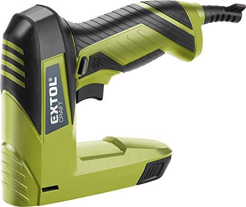 Extol Craft Pince à ongle/électrique, 60coups/min, 45W, 110Lot de Magazine, pinces et clous 6–14mm, 1pièce, vert, 420101