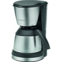Clatronic KA 3563 - Cafetera de goteo con jarra termo, capacidad de 8 a 10 tazas, 1 l, 800 W, color negro y plata