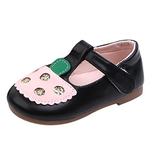Jaysis Elegant Leder Babyschuhe Mädchen Prinzessin Schuhe Kostüm Freizeitschuhe Flache Sandalen Festliche Mädchenschuhe Taufschuhe Bequem Süß Atmungsaktiv