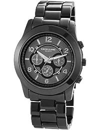 Excellanc  - Reloj de cuarzo para mujer, correa de diversos materiales color negro