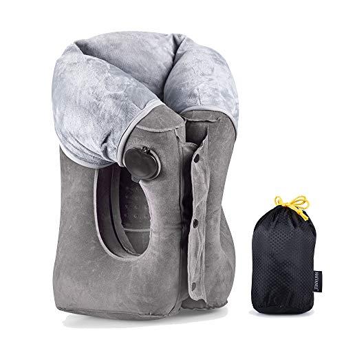 Almohada de Viaje-Multifuncionales Almohadas de Viaje inflables para Dormir en un Tren de avión