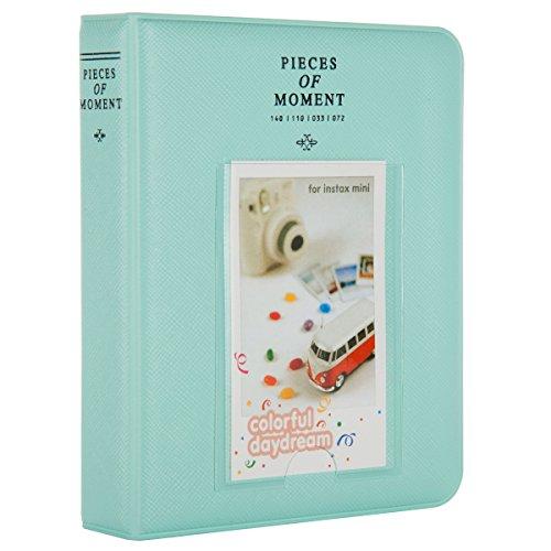 CAIUL Stücke von Moment Mini Foto Album Für Fujifilm Mini 8 8+ 9 70 7s 90 25 26 50s Film (64 Fotos,Eisblau)