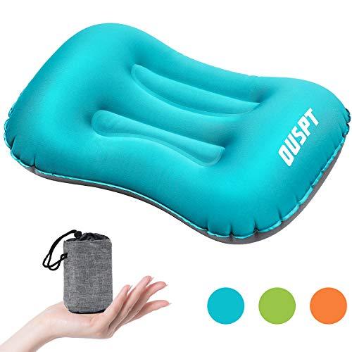Almohada inflable,Almohada de viaje inflable, Confortable almohada portátil para para camping, senderismo, picnic, deportes al aire libre, vuelos, coche