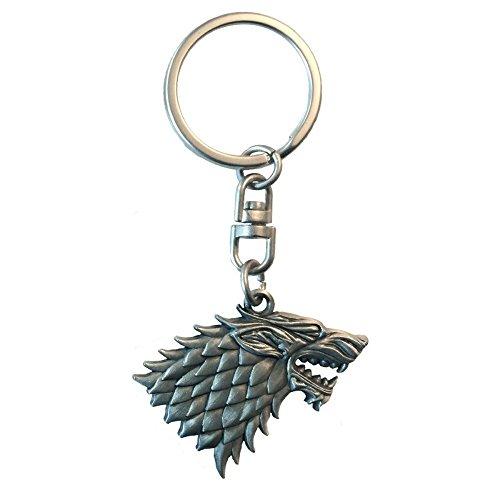 Preisvergleich Produktbild Game of Thrones - 3D Metall Schlüsselanhänger - Stark Logo