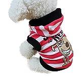 Bluelucon Weihnachten Hundebekleidung Polyester T Shirt Puppy Kostüm Hündchen Hund Kleidung Weiches Pullover Kostüm Hundemantel Haustier Hoodie warme Sweatshirts Puppy Coat Bekleidung