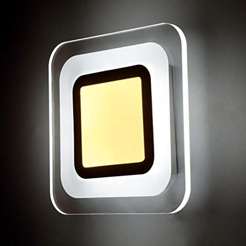 OOFAY LED Wandleuchte Square Akzent Bedside Living Room Moderne Gang-Wandleuchte, White Light - Akzent Wandleuchte