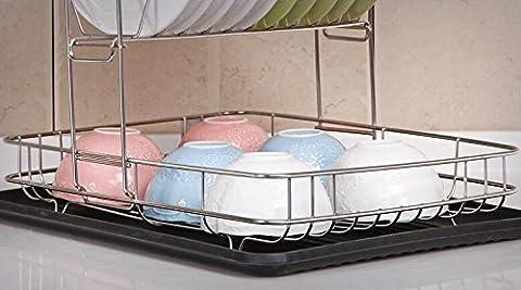 Mangeoo _ Plateau cuisine panier à vaisselle cuisine étage intégrant le réservoir de plats egouttoirs de