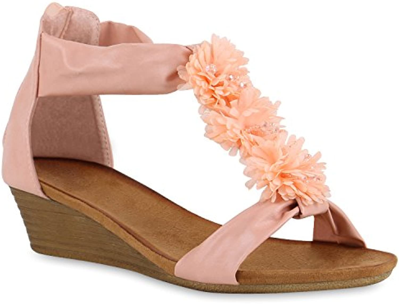 Stiefelparadies Damen Keilsandaletten Blumen Strass Modell Flandell  2018 Letztes Modell Strass  Mode Schuhe Billig Online-Verkauf e7e1f3