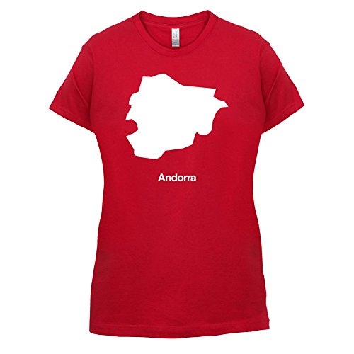 Andorra / Fürstentum Andorra Silhouette - Damen T-Shirt - 14 Farben Rot