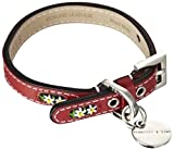 Hennessy & Sons 71007/06 Hundehalsband, L, 40-47 cm, edelweiß/rot