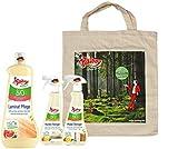Poliboy Bio Laminat Pflege (1000 ml), Bio Küchen Reiniger (375 ml) und Bio Möbel Reiniger (375 ml) + Baumwolltasche (1.750 ml, Set Boden, Küche, Möbel)