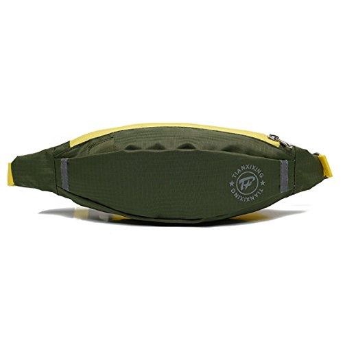 Running Taschen Fitness Riding Taille Packungen Laufen Gürtel Waistpacks für Outdoor-Aktivitäten grün - grün