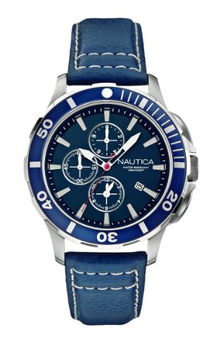 Nautica Unisex Analogue Watch with Blue Dial Analogue Display - A20110G