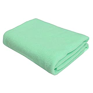 SODIAL(R) 2x Large Microfibre Towel Sports Bath GYM Quick Dry Travel Swimming Camping Beach, Light Green