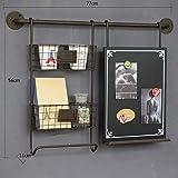 LF DD Shelf American Land Vintage Wand geschmückt Home Dekoration Eisen Tafel (schwarz 77 * 56 * 11 cm Verpackung von 1)