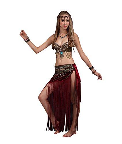 SunWanyi Damen Sexy Bauchtanz Performance Rock Anzug Tribal Oriental Arabian Belly Dance Rock Anzug(Referenz Beschreibung) (Oriental Belly Dance)