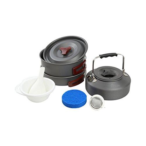 Fire-Maple FMC-204 kit de utensilios tetera café cocina de aluminio para camping senderismo picnic excursión (2-3 personas)
